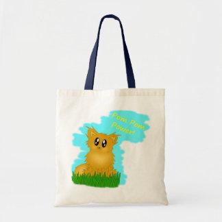 Pom Pom Power Cute Pomeranian Tote Bag