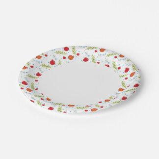 Pomagranite Pattern Paper Plate