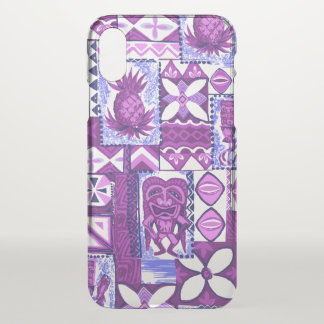 Pomaika'i Tiki Hawaiian Pineapple Vintage Tapa iPhone X Case