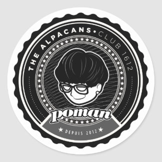 Poman Badge Stickers (Large, 6 stickers per sheet)