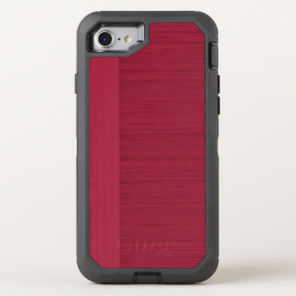 Pomegranate Bamboo Border Wood Grain Look OtterBox Defender iPhone 7 Case