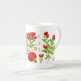 Pomegranate Bone China Mug (You can customize)