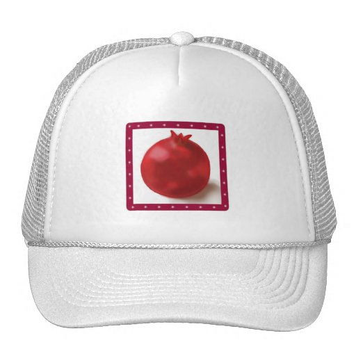 Pomegranate Cute Red drawing Hats