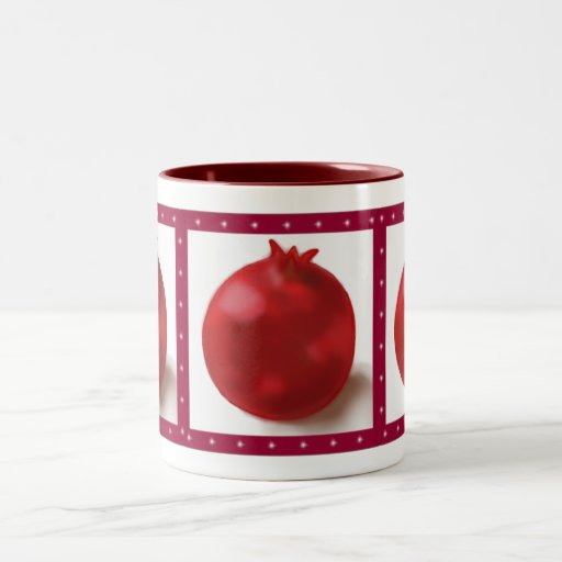 Pomegranate Cute Red drawing Coffee Mugs
