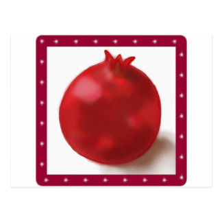 Pomegranate Cute Red drawing Postcard
