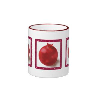 Pomegranate Cute Red drawing Ringer Mug