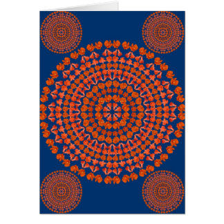 Pomegranate Flower Mandala as Card