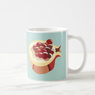 Pomegranate fruit illustration coffee mug