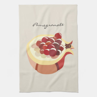 Pomegranate fruit illustration tea towel