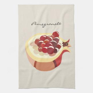 Pomegranate fruit illustration towels