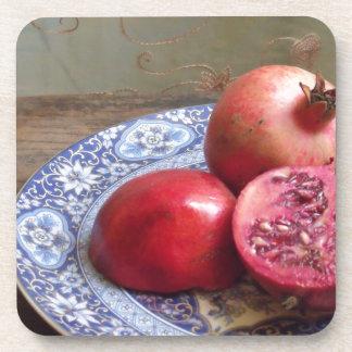 Pomegranate Fruit Still Life Coaster