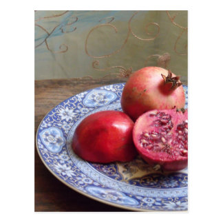 Pomegranate Fruit Still Life Postcard