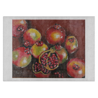 Pomegranate Glass Cutting Board