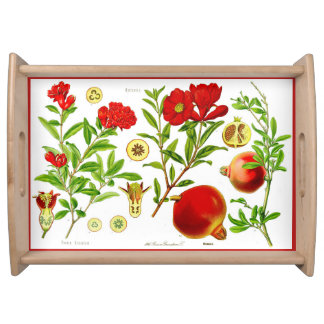 Pomegranate Large Serve-Tray (You can customize) Serving Tray