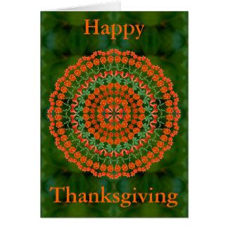 Pomegranate Mandala Thanksgiving Card