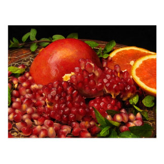 Pomegranate, Orange and Mint Postcard