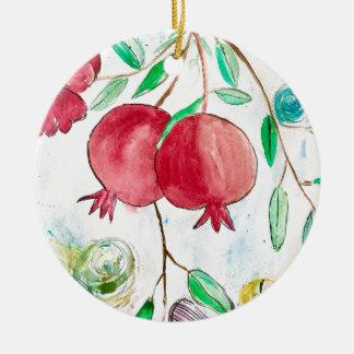 Pomegranate painting pomegranate art Wall art Christmas Ornament