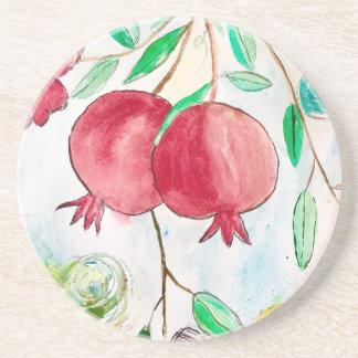 Pomegranate painting pomegranate art Wall art Coaster