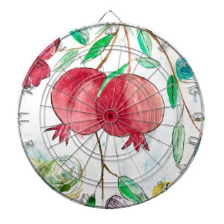 Pomegranate painting pomegranate art Wall art Dartboard