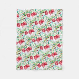 Pomegranate painting pomegranate art Wall art Fleece Blanket
