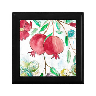 Pomegranate painting pomegranate art Wall art Gift Box