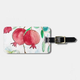 Pomegranate painting pomegranate art Wall art Luggage Tag