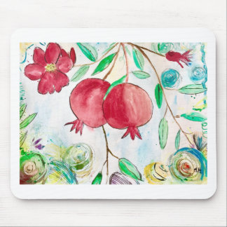 Pomegranate painting pomegranate art Wall art Mouse Mat