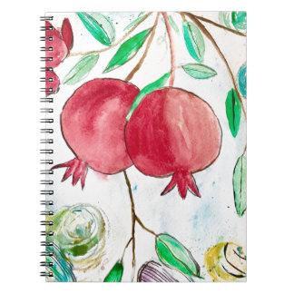 Pomegranate painting pomegranate art Wall art Notebooks