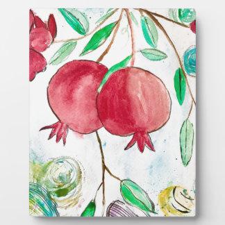 Pomegranate painting pomegranate art Wall art Plaque