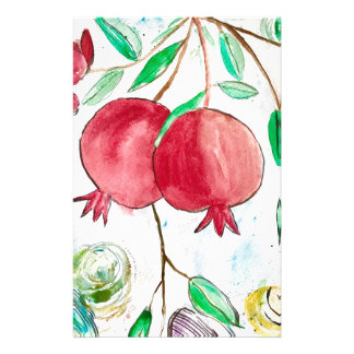 Pomegranate painting pomegranate art Wall art Stationery