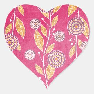 Pomegranate Paradise Heart Sticker