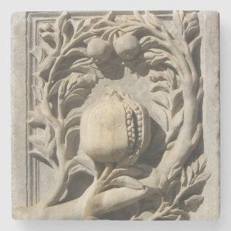 Pomegranate Stone Carved Art Granada Marble Coater Stone Beverage Coaster