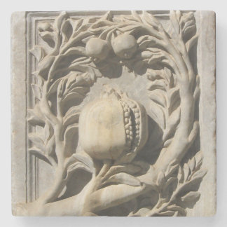 Pomegranate Stone Carved Art Granada Marble Coater Stone Coaster