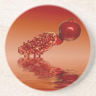 Pomegranate superfood fruit coaster