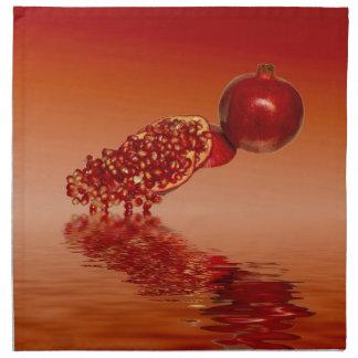 Pomegranate superfood fruit napkin