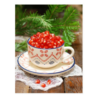 Pomegranate Tea Postcard