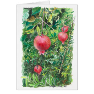Pomegranate tree card