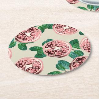 Pomegranate V2 round coaster