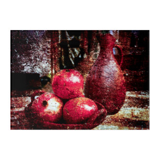 Pomegranates And A Pitcher Acrylic Print