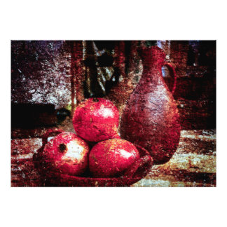 Pomegranates And A Pitcher Photo Print