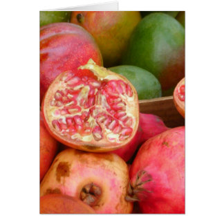 Pomegranates and Mangos in Zurich Card