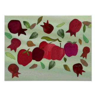 Pomegranates & Apples Sweet Year Print