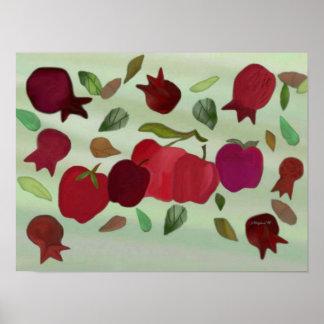 Pomegranates & Apples Sweet Year Print