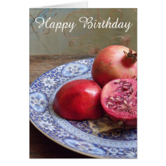 Pomegranates Birthday Card