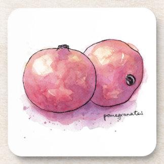 Pomegranates Drink Coasters