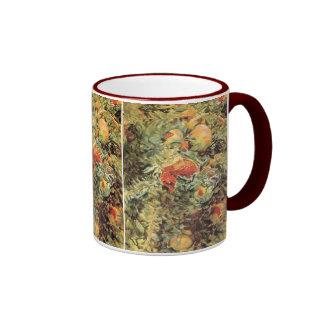Pomegranates II by Sargent, Vintage Victorian Art Ringer Coffee Mug