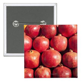 Pomegranates on display at the Carmel Market 15 Cm Square Badge