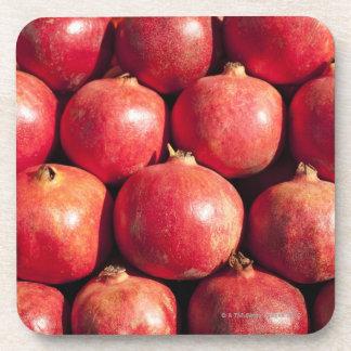 Pomegranates on display at the Carmel Market Coaster