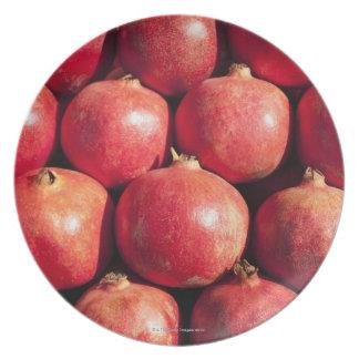 Pomegranates on display at the Carmel Market Plate