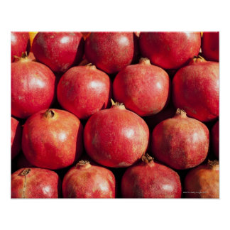 Pomegranates on display at the Carmel Market Poster
